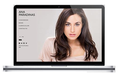 Ana Paradinas - Web Actriz